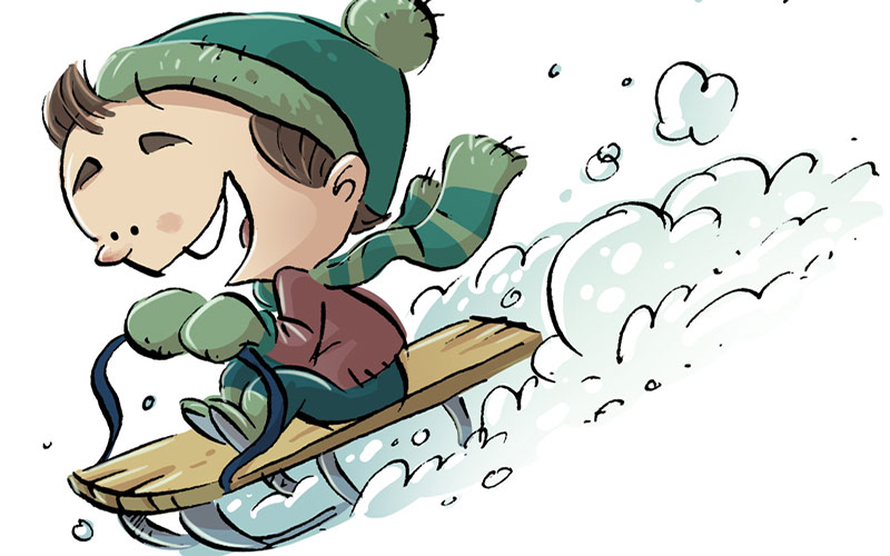 Thousands of Children are Injured Each Year While Sledding - Don't Let Safety Slip Away!